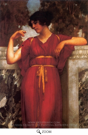 Painting Reproduction of The Ring, John William Godward