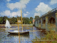 The Road Bridge at Argenteuil by Claude Monet