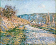 The Road to Vetheuil painting reproduction, Claude Monet
