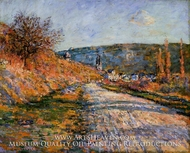 The Road to Vetheuil by Claude Monet