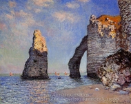 The Rock Needle and the Porte d'Aval painting reproduction, Claude Monet