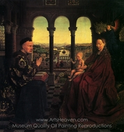 The Rolin Madonna (La Vierge De Chancelier Rolin) painting reproduction, Jan Van Eyck