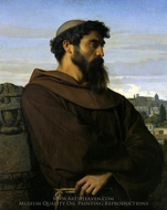The Roman Monk painting reproduction, Alexandre Cabanel