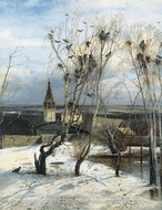 The Rooks Have Returned by Alexey Savrasov