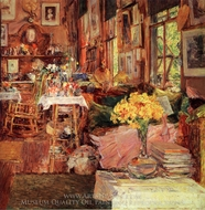 The Room of Flowers painting reproduction, Childe Hassam