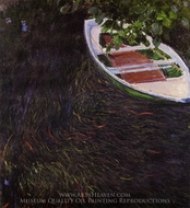 The Row Boat painting reproduction, Claude Monet