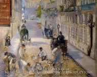 The Rue Mosnier with Road Menders by Edouard Manet