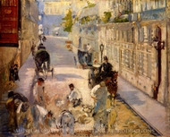 The Rue Mosnier with Road Menders painting reproduction, Edouard Manet