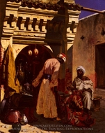 The Rug Merchant painting reproduction, Rudolph Ernst