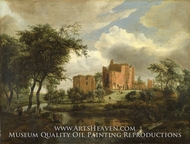 The Ruins of Brederode Castle by Meindert Hobbema