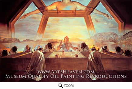 Painting Reproduction of The Sacrament of the Last Supper, Salvador Dali (inspired by)