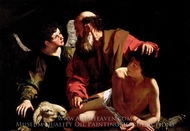 The Sacrifice of Isaac painting reproduction, Caravaggio