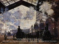 The Saint-Lazare Station II by Claude Monet