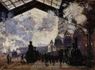 The Saint-Lazare Station II painting reproduction, Claude Monet