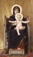 The Seated Madonna (Madone Assise) painting reproduction, William Adolphe Bouguereau
