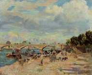 The Seine at Charenton painting reproduction, Armand Guillaumin