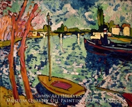 The Seine at Chatou by Maurice De Vlaminck