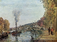 The Seine at Marly painting reproduction, Camille Pissarro