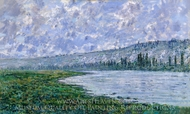 The Seine at Vetheuil painting reproduction, Claude Monet