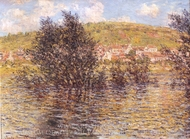 The Seine at Vetheuil, Effect Sunshine After Rain painting reproduction, Claude Monet