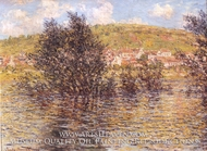 The Seine at Vetheuil, Effect Sunshine After Rain by Claude Monet