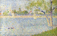 The Seine Seen from La Grande Jatte painting reproduction, Georges Seurat