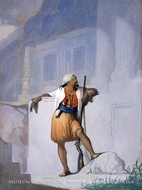 The Sentry painting reproduction, William Rimmer