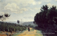 The Severes Hills (Le Chemin Troyon) by Jean-Baptiste Camille Corot