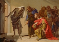 The Shade of Samuel Invoked by Saul painting reproduction, Bernardo Cavallino