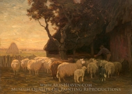 The Sheepfold painting reproduction, Horatio Walker