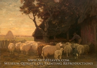 The Sheepfold by Horatio Walker