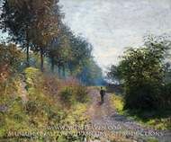 The Sheltered Path by Claude Monet