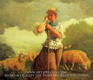The Shepherdess of Houghton Farm by Winslow Homer