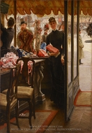The Shop Girl painting reproduction, James Tissot