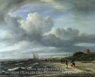The Shore at Egmond-Aan-Zee by Jacob Van Ruisdael