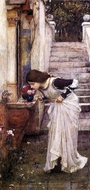 The Shrine painting reproduction, John William Waterhouse