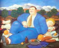 The Siesta painting reproduction, Fernando Botero