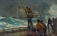 The Signal of Distress painting reproduction, Winslow Homer