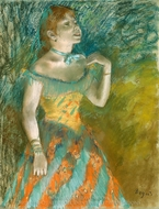 The Singer in Green painting reproduction, Edgar Degas