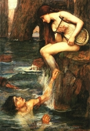 The Siren painting reproduction, John William Waterhouse