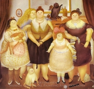 The Sisters painting reproduction, Fernando Botero