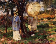 The Sketchers painting reproduction, John Singer Sargent