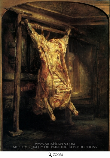 Painting Reproduction of The Slaughtered Ox, Rembrandt Van Rijn