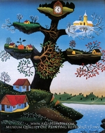 The Spellbound Tree painting reproduction, Mikhail Dascalu