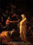 The Spirit of Samuel Called Up Before Saul by the Witch Endor painting reproduction, Salvator Rosa