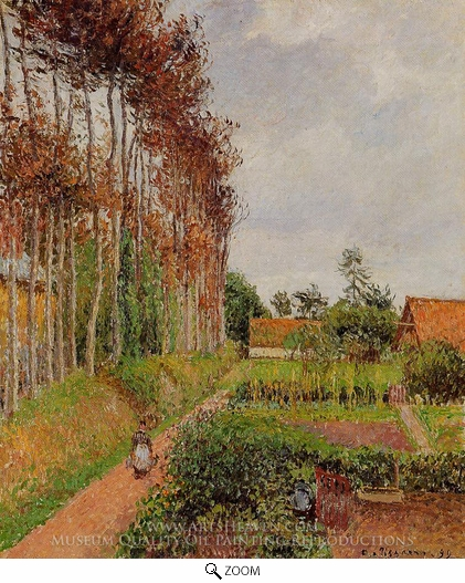Painting Reproduction of The Steading of the Auberge Ango, Varengeville, Camille Pissarro