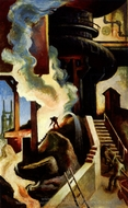 The Steel Mill painting reproduction, Thomas Hart Benton
