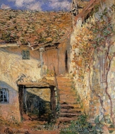 The Steps painting reproduction, Claude Monet