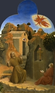 The Stigmatisation of Saint Francis painting reproduction, Sassetta