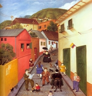 The Street painting reproduction, Fernando Botero